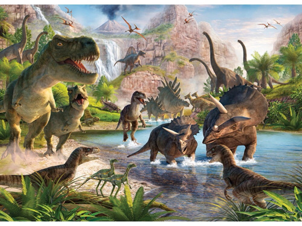 DINOSAUR LAND WALLPAPER MURAL