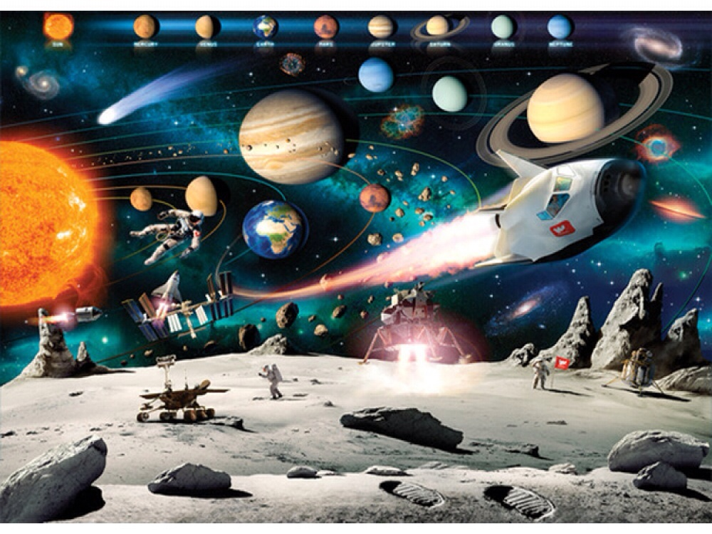 SPACE ADVENTURE WALLPAPER MURAL