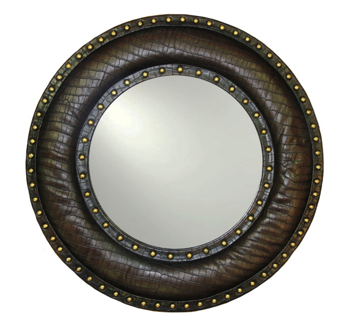 BROWN STUDDED MIRROR