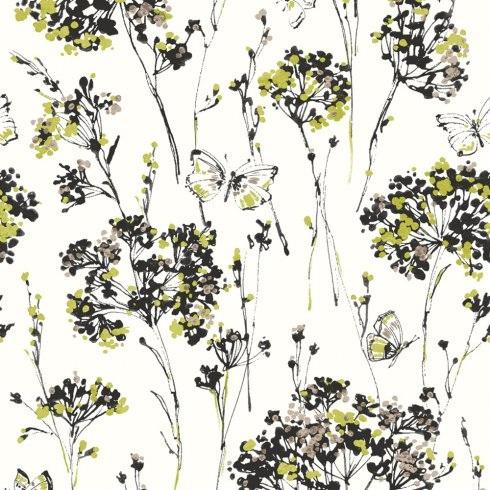 NATURAL BUTTERFLY FLORAL BUTTERFLIES FLOWER MOTIF