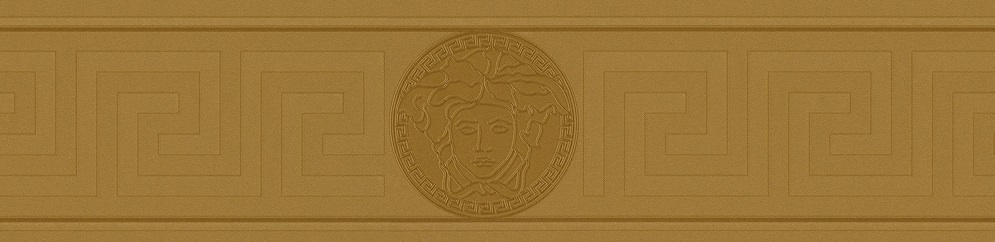 VERSACE GREEK VINYL GOLD BORDER