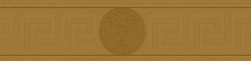 VERSACE GREEK VINYL GOLD BORDER