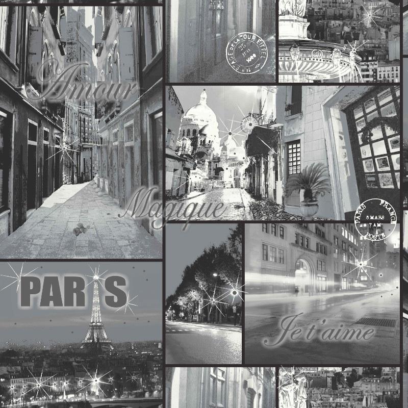 GLITTER PARIS BLACK&WHITE