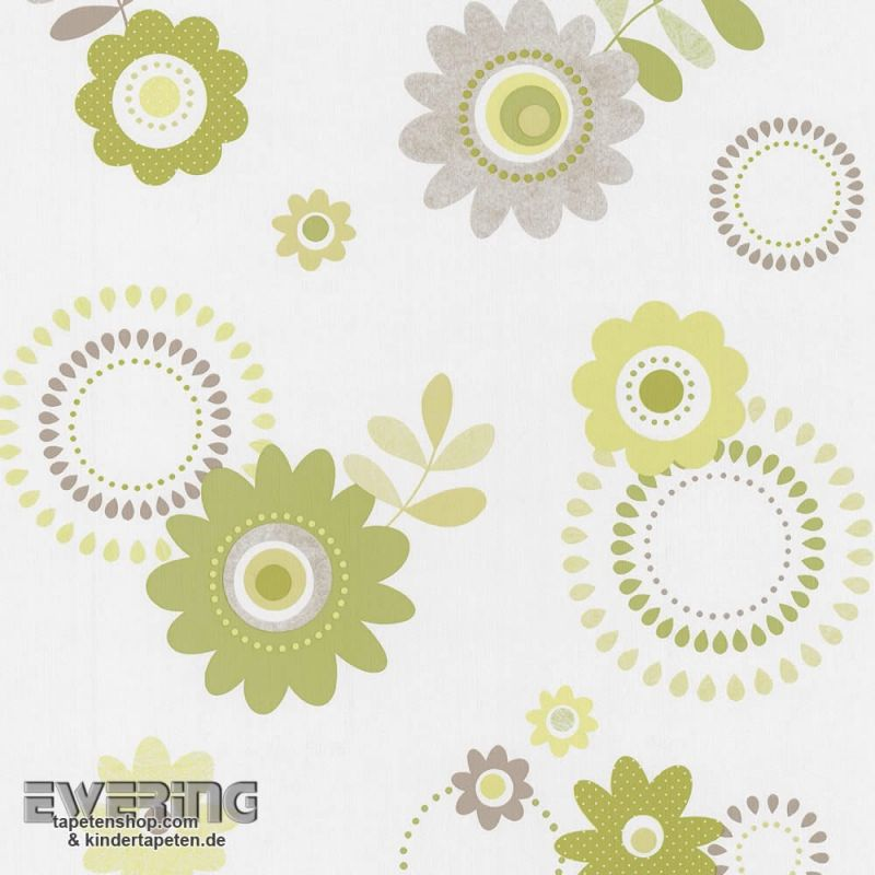 FLORAL WHITE GREEN