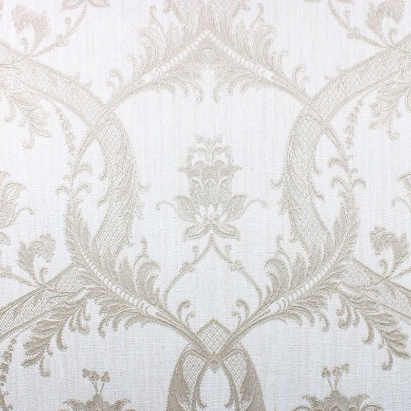MILANO DAMASK GLITTER TAUPE/SILVER
