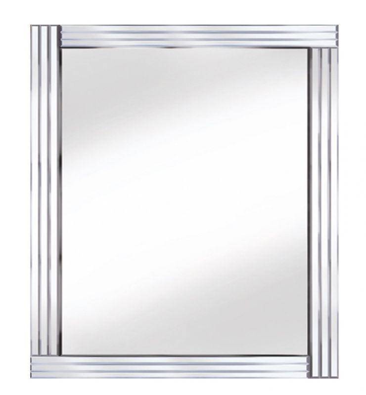 CLASSIC TRIPLE BAR MIRROR SILVER 120X80