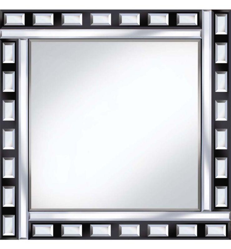 CLASSIC TILE MIRROR BLACK/SILVER 60X60