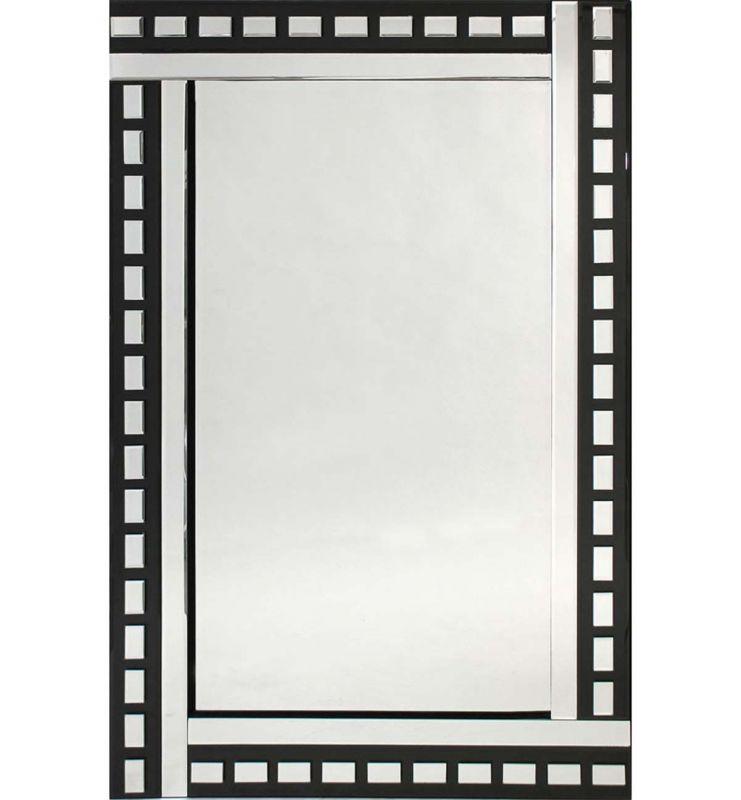 CLASSIC TILE MIRROR BLACK/SILVER 120X40