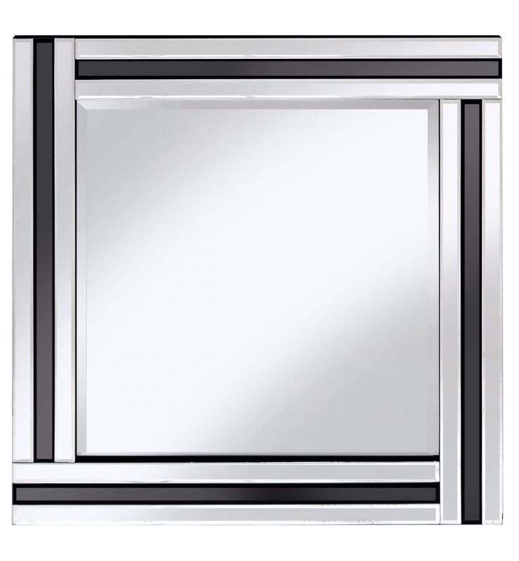 CLASSIC TRIPLE BAR MIRROR BLACK/SILVER 60X60