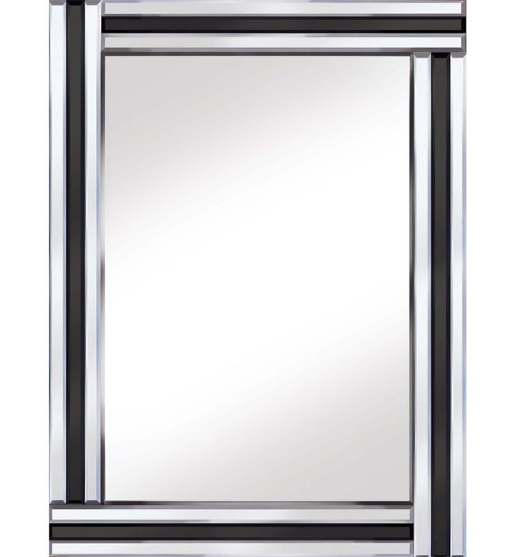 CLASSIC TRIPLE BAR MIRROR BLACK/SILVER 60X80