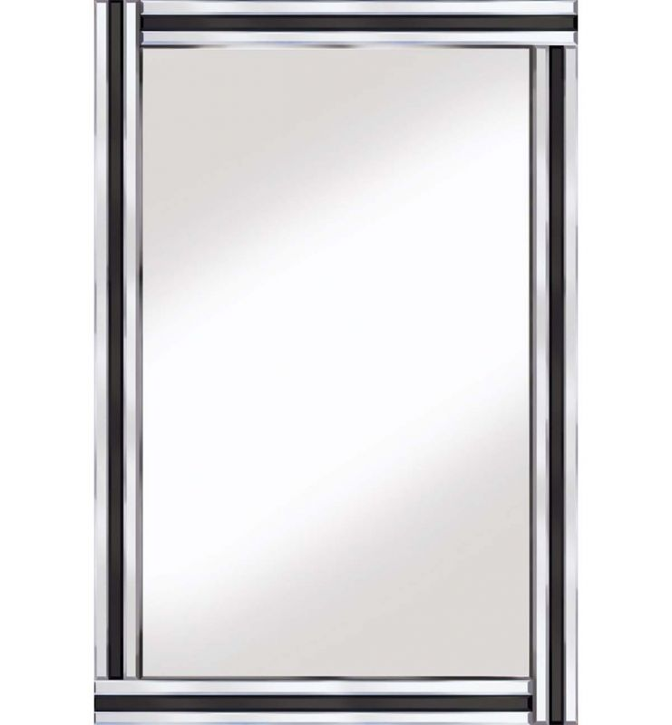 CLASSIC TRIPLE BAR MIRROR BLACK/SILVER 120X80