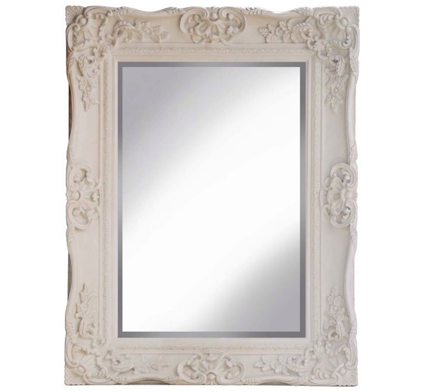 PMR SCROLL MIRROR CREAM 89X119