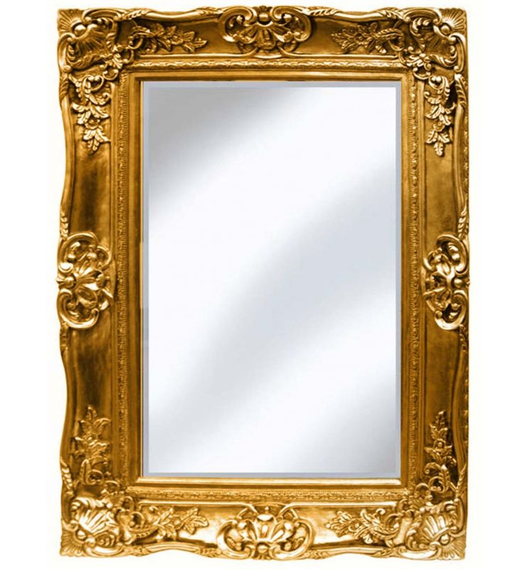 PMR SCROLL MIRROR GOLD 89X119