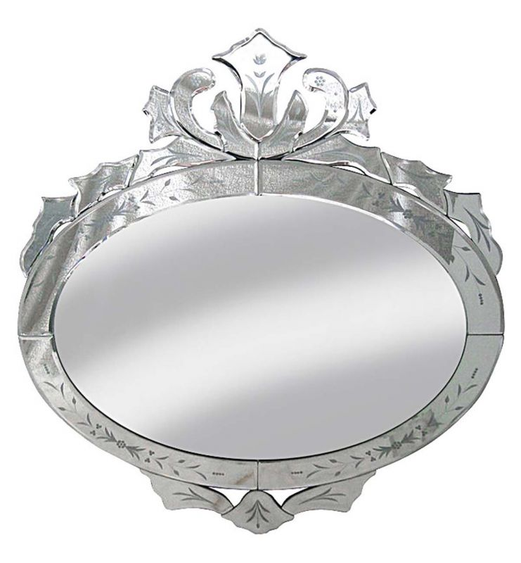 DECORATIVE VENETIAN MIRROR SILVER 80X68