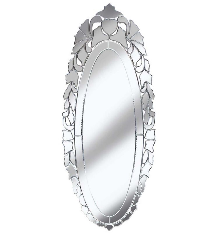 DECORATIVE MOET MIRROR SILVER 49X120