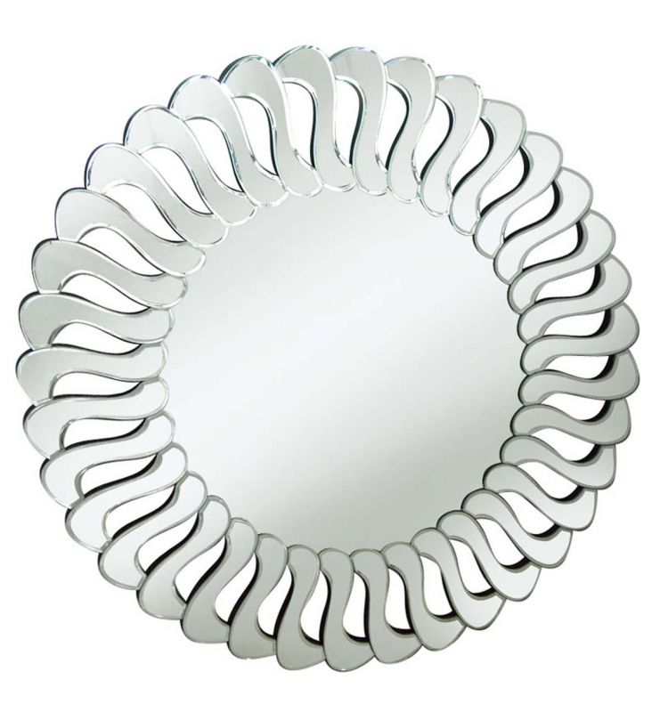 DECORATIVE ART MIRROR SILVER 90X90
