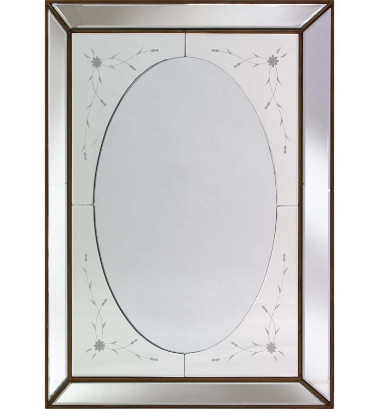 DECORATIVE 3D MIRROR SILVER 60X80