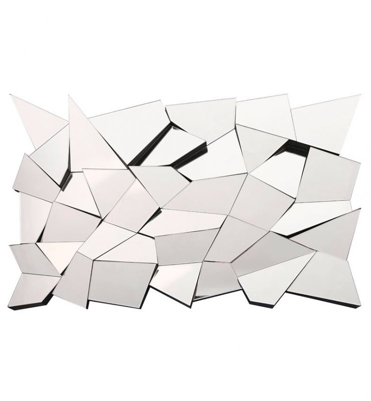 ZIG ZAG ABSTRACT WALL MIRROR
