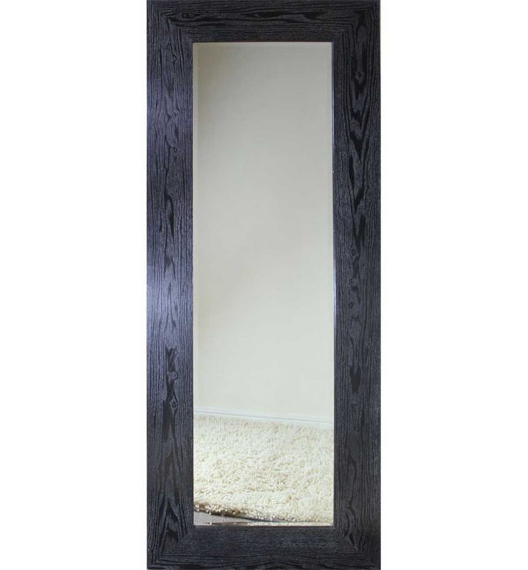 WOOD CHUNKY DARK MIRROR BLACK 70X180