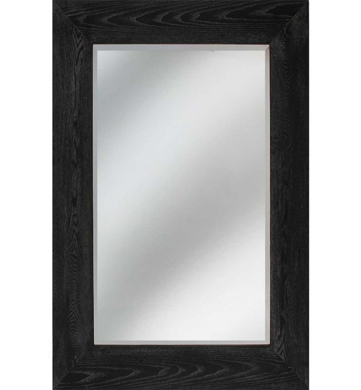WOOD CHUNKY DARK MIRROR BLACK 90X122