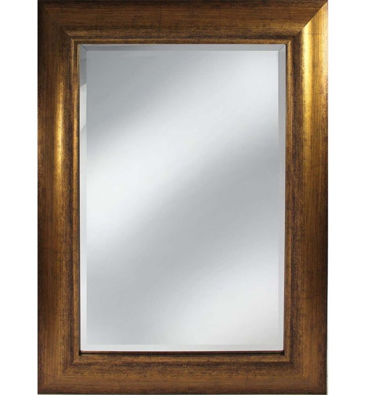 CONTEMPORARY CHIC MIRROR ANTIQUE GOLD 120X50