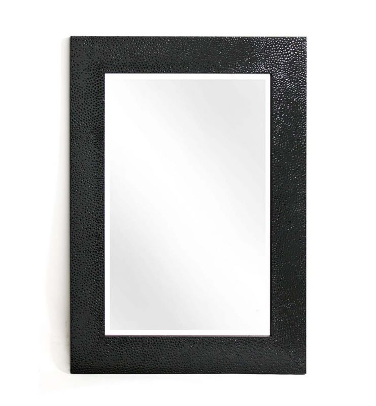 CONTEMPORARY ANTIQUE MIRROR BLACK 120X50