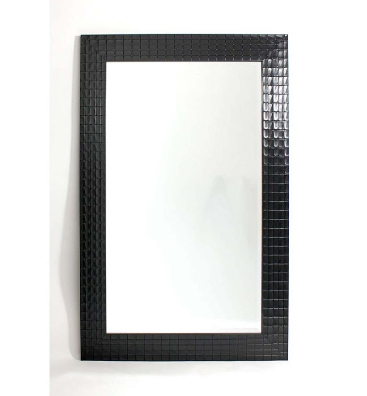 CONTEMPORARY CHECK MIRROR BLACK120X80