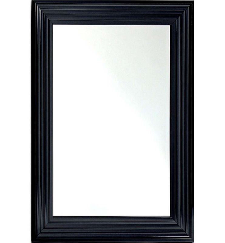 CONTEMPORARY ELEGANT MIRROR GLOSSY BLACK 120X80