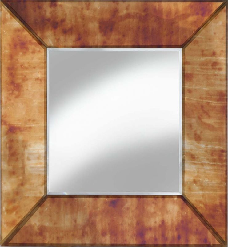 ANGULAR CUBE MIRROR GOLD ANTIQUE