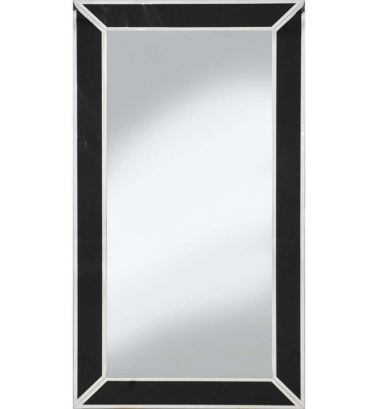 CUBE BOX MIRROR WITH BLACK/SILVER LINING
