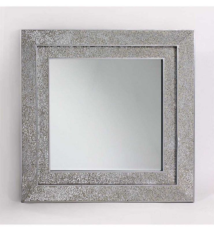 MOSAIC DOUBLE MIRROR SILVER 68X68