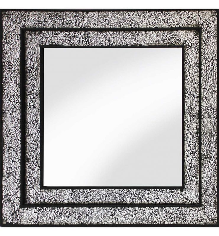 MOSAIC DOUBLE MIRROR BLACK/SILVER 68X68