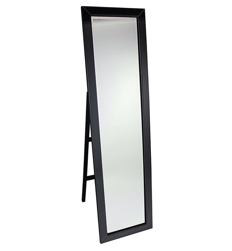 CHEVAL MITRED EDGE MIRROR BLACK 40X150