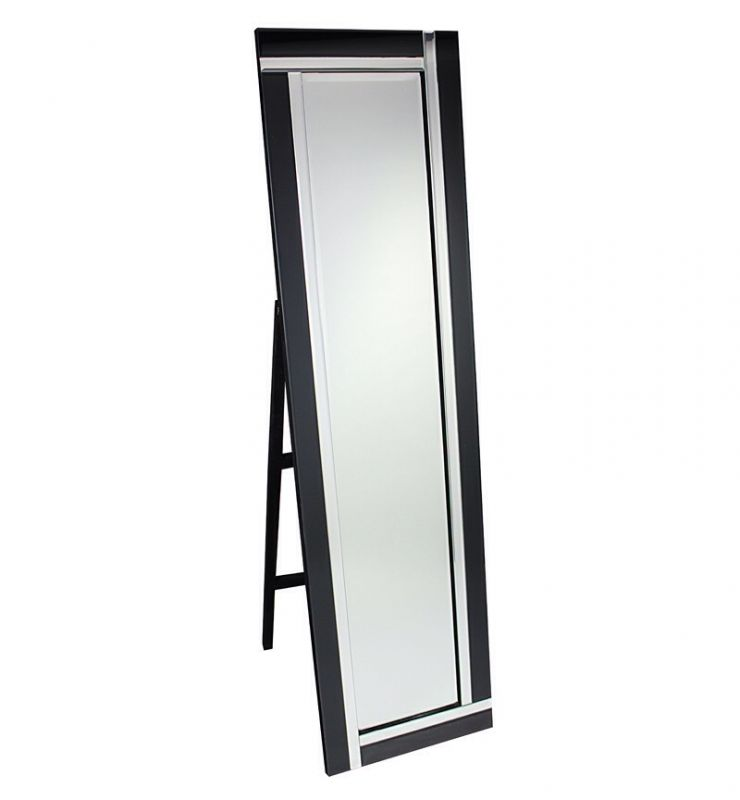 CHEVAL TWO BAR MIRROR SILVER/BLACK 40X150