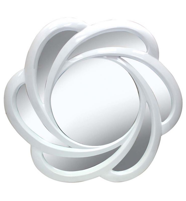 RIBBON MIRROR WHITE 110X110