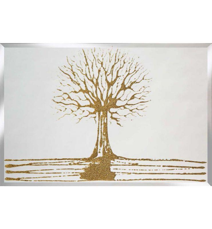 GOLD SWAROVSKI TREE 75CM X 75CM